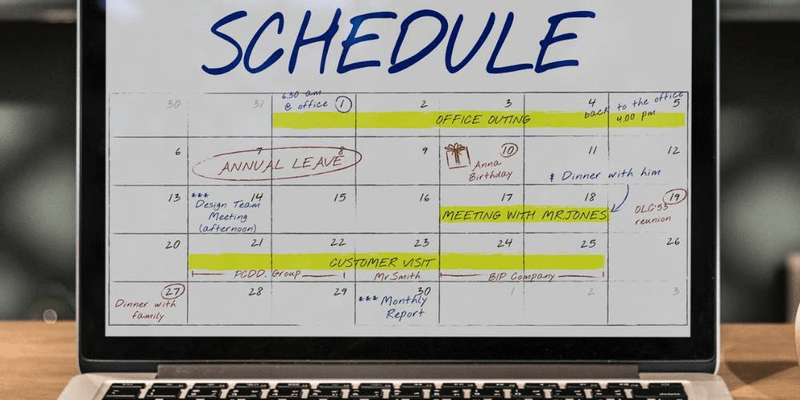 using an online schedule planner as a work hack for your restaurant